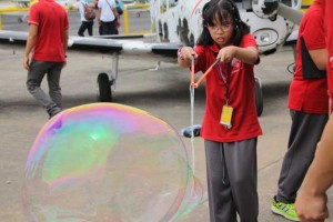 We made the biggest bubbles that day!